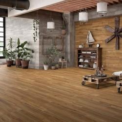 Ambiente suelo porcelanico imitacion madera color miel rectificado - Woodville Miel
