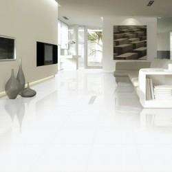 Azulejo Blanco Brillo Gran Formato Porcelanico - Nevada