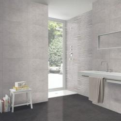 azulejo baño gris
