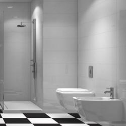 Azulejo Blanco o Negro lisos y con ondas decorativos para chapado de baño -...