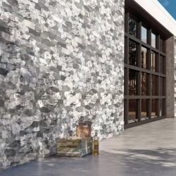 Azulejo Piedra Gris para Revestimiento de Fachada - Málaga
