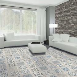 Azulejo Hidraulico Decorativo combinado con madera - Ibiza Decor