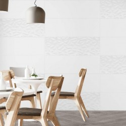 Azulejo  Blanco Decorativo Para Baño - Poligon Alps