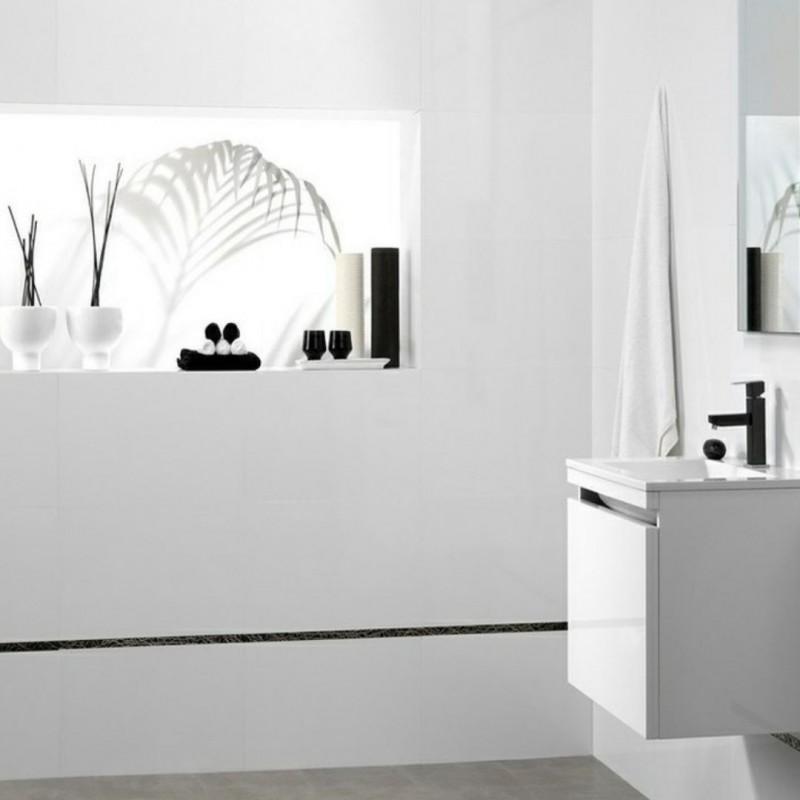 Baño  decorado con Azulejo Blanco Mate - Alps Blanco Mate