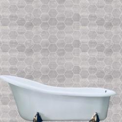 Azulejo Hexagonal y a Rayas para revestimiento de pared de baño - Rhin y Rel