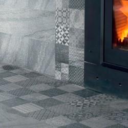 Azulejo gris marmol mate para chapado de baño o cocina - Arenisca