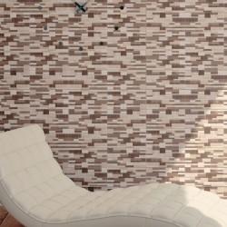 Ambiente ideas para decorar fachadas con azulejos efecto piedra - Mureto Leña