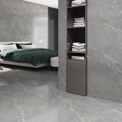 Suelos porcelanicos imitación marmol gris con veta blanca - Naxos Steel