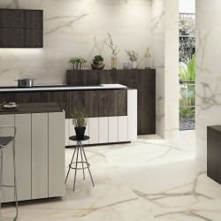 Ambiente Suelo porcelanico marmol beige mate - Newburry Gold Natural