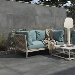 Como colocar azulejos para terraza antideslizantes de gran formato - Abstract Grafito