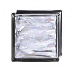 Bloque de vidrio negro para baños y cocinas