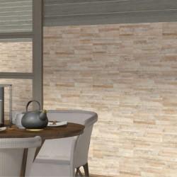 fachadas decoradas con azulejo imitacion piedra beige